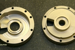 Pressure Plates made from tungsten carbide used in fluid powered pump parts for defense aircraft