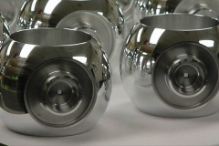 Precision CNC Turned aluminum balls. Application - Spacecraft ball valves