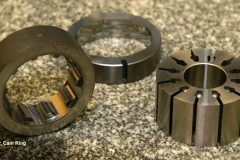 Rotors and a cam ring. Parts are produced to extremely close tolerances both in size and finish requirements.