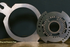 Pressure Plate and Cam Ring produced from tungsten carbide for fluid pumps