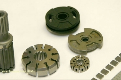 Splined Shaft, miniature Pressure Plates, Rotors, and Vanes used in fluid pumps for the defense industry